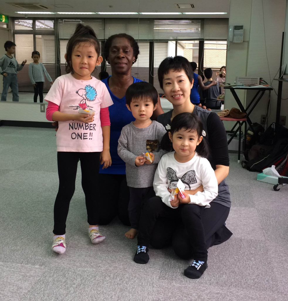 June, Ayako and her Students who took my class